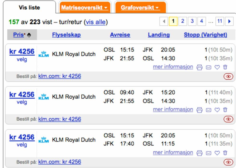 """Fly """"gratis"""" til New York"""