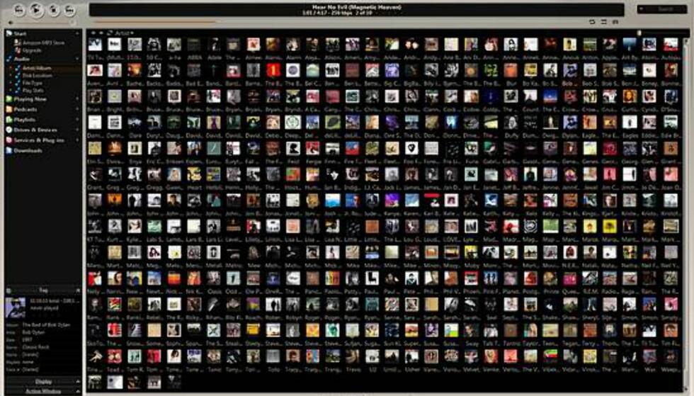 Har du stor skjerm med høy oppløsning? Hva med å vise 400 plater på en gang?