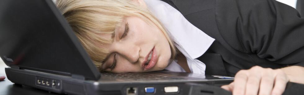 De som rammes av søvnsykdommen narkolepsi kan sovne hvor som helst, og når som helst. Foto: colourbox.com