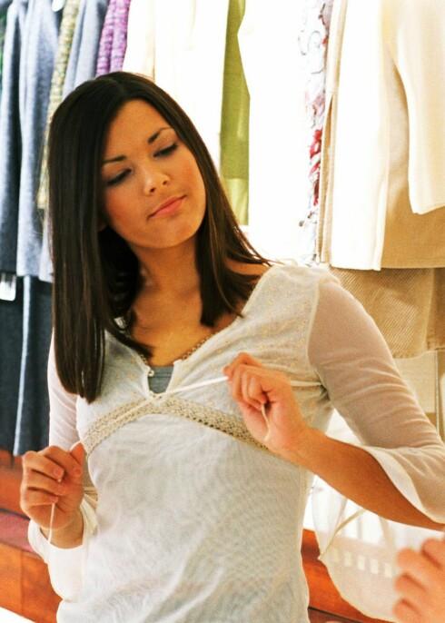 Lykkefølelsen av å shoppe inntreffer idét du finner det du har lyst på.  Foto: colourbox.com