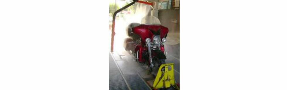 Vaskeautomat for motorsykler