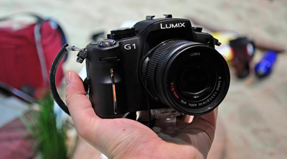 Panasonics nye systemkamera, Lumix DMC-G1. Foto: Pål Joakim Olsen
