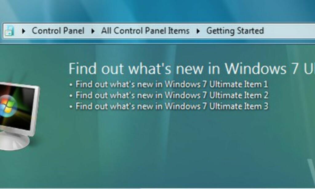 image: Windows 7 er på slanker'n