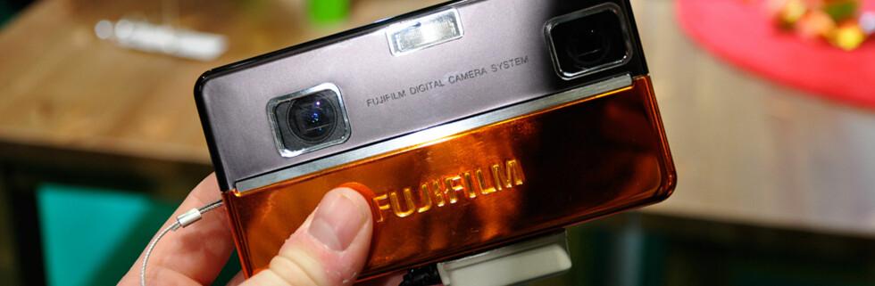 Fujifilms nye prototype tar bilder i 3D. Foto: Pål Joakim Olsen