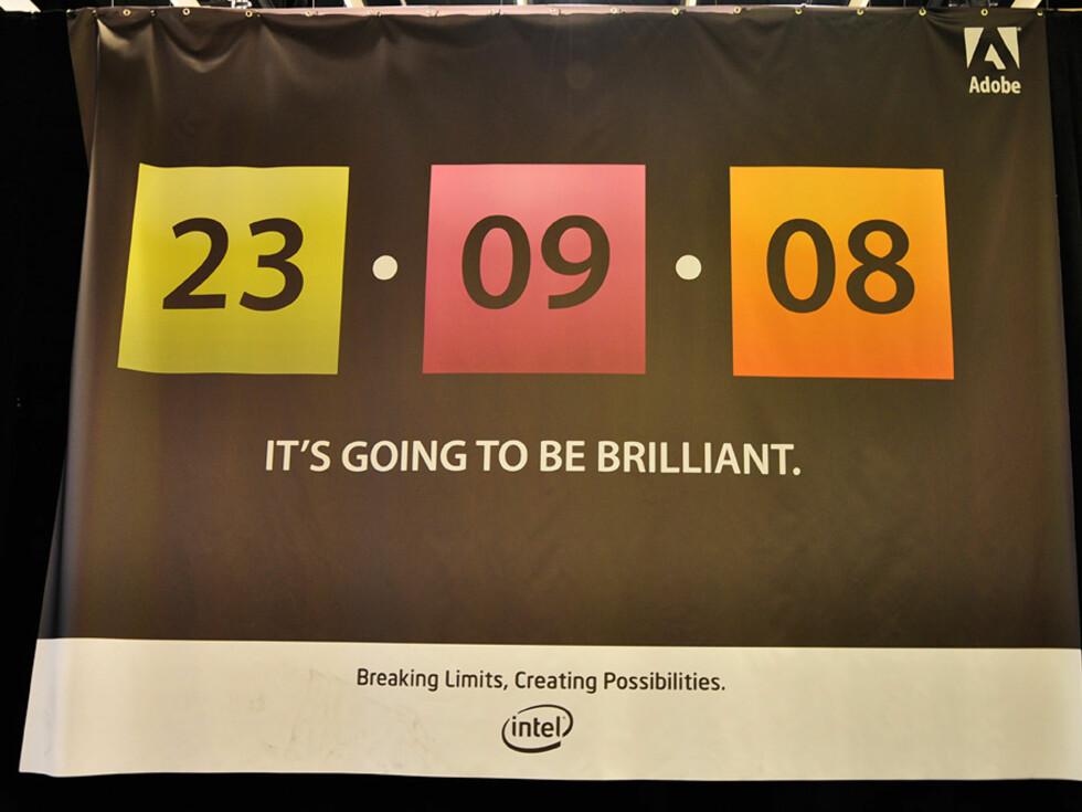 Adobe skal vise frem CS4, men ikke en dag for tidlig. Foto: Pål Joakim Olsen