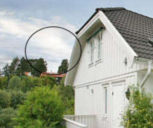 Høyspentledningene gir inntrykk av å forsvinne inn i tåkeheimen på dette bildet. (Faksimile: Finn.no)