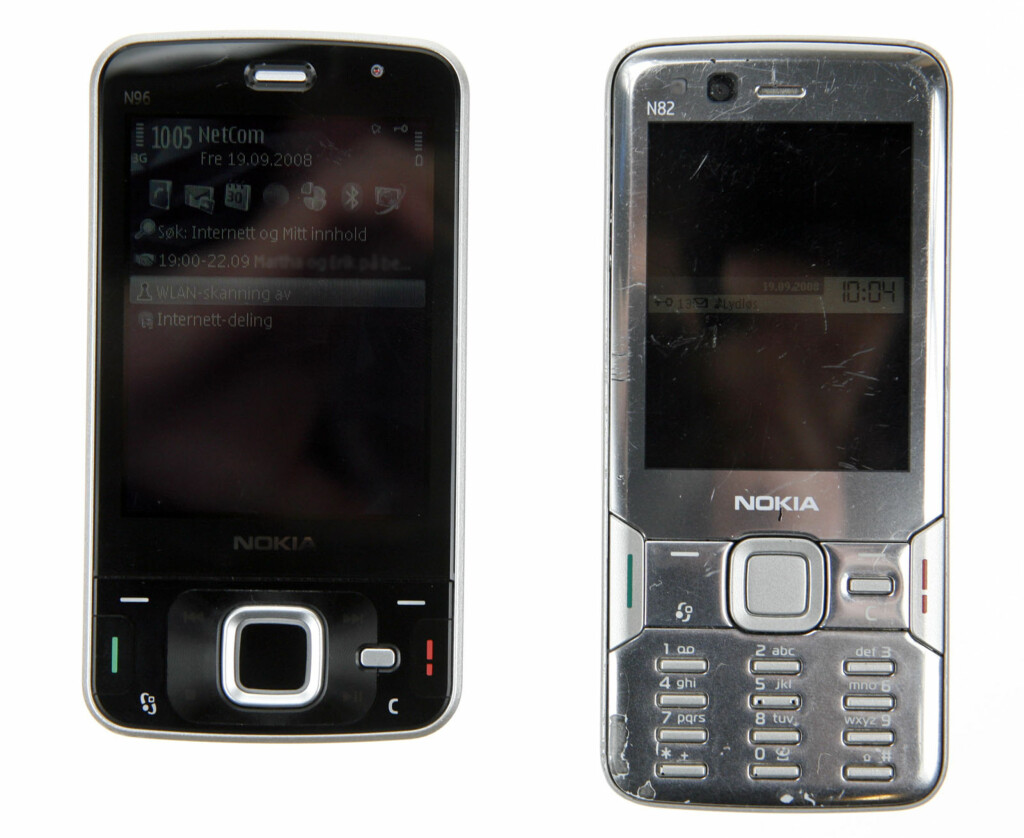 N96 til venstre - N82 til høyre