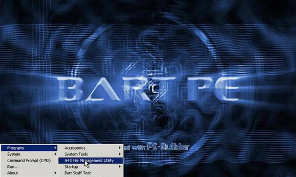 image: BartPE - kjør Windows fra CD