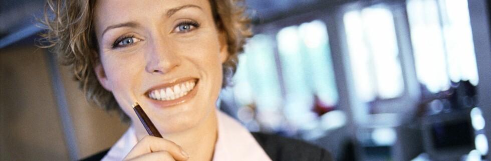Hun kan være så blid hun bare vil, men gir hun deg de beste lånebetingelsene?        Foto: colourbox.com