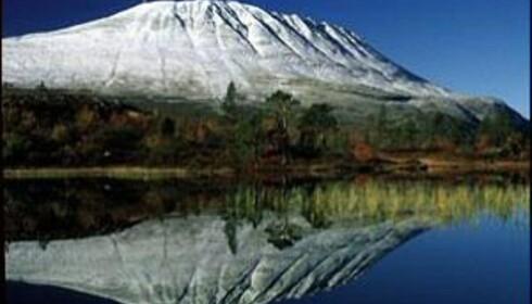 Slik ser Gaustatoppen ut fra Gaustablikk. Foto: Rjukan Turistkontor