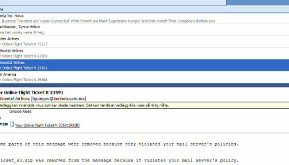 Fått denne e-posten?