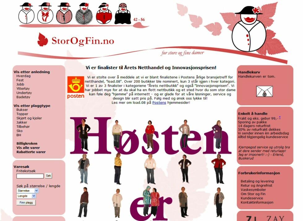 Nettbutikken StorOgFin.no er nominert i hele to kategorier i årets nettbutikk. Foto: Storogfin.no