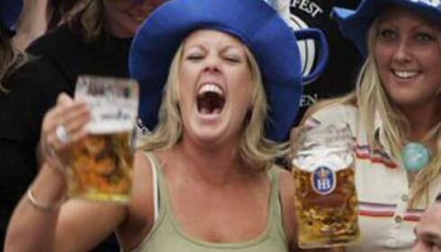 Disse ølglassene krever armstyrke. Foto: Hans Kristian Krogh-Hanssen