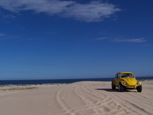 Strandkjøring på Stockton Beach. Foto: James Stevenson