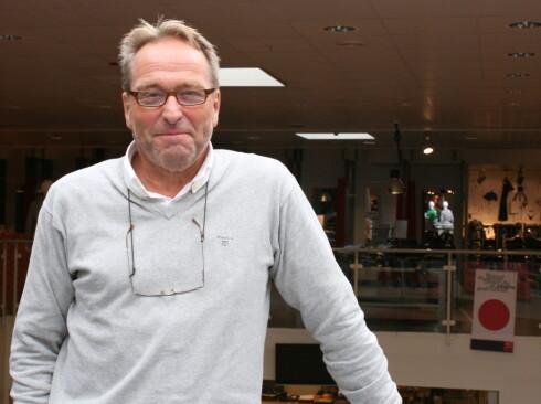 Joar Christiansen,daglig leder ved Outlet One, Vestby. Foto: Kristin Sørdal