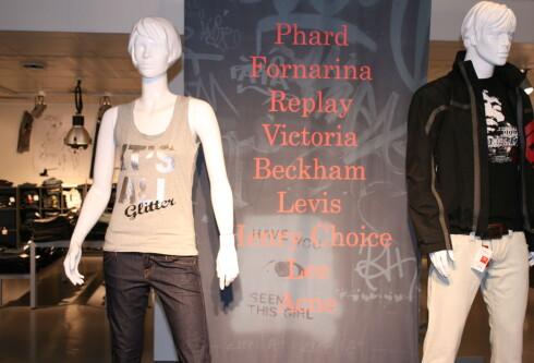 Enormt utvalg i jeans ... få Victoria Beckhan-jeans til halve prisen, eller enda billigere. Foto: Kristin Sørdal