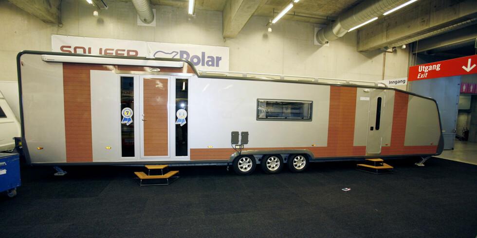 Denne vognen fra Polaris Solifer må være messens lengste. Foto: Per Ervland