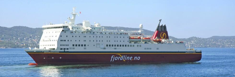 MS Bergensfjord skal legge til ved to nye havner i vinter. Foto: Fjord Line