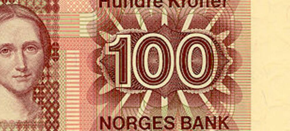Camilla Collett går nok en gang inn i historien. Foto: Norges Bank