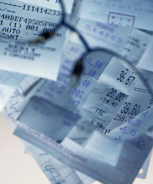 Kvitteringsjuks er veldig vanlig. Ofte har de fiktive butikk og -gatenavn. Illustrasjonsfoto: Colourbox
