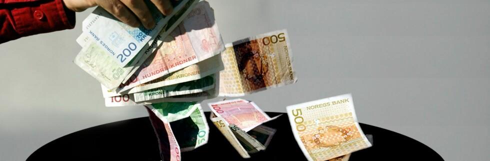 Hva gjør du når det ikke går an å ta ut penger i banken?  Foto: Per Ervland
