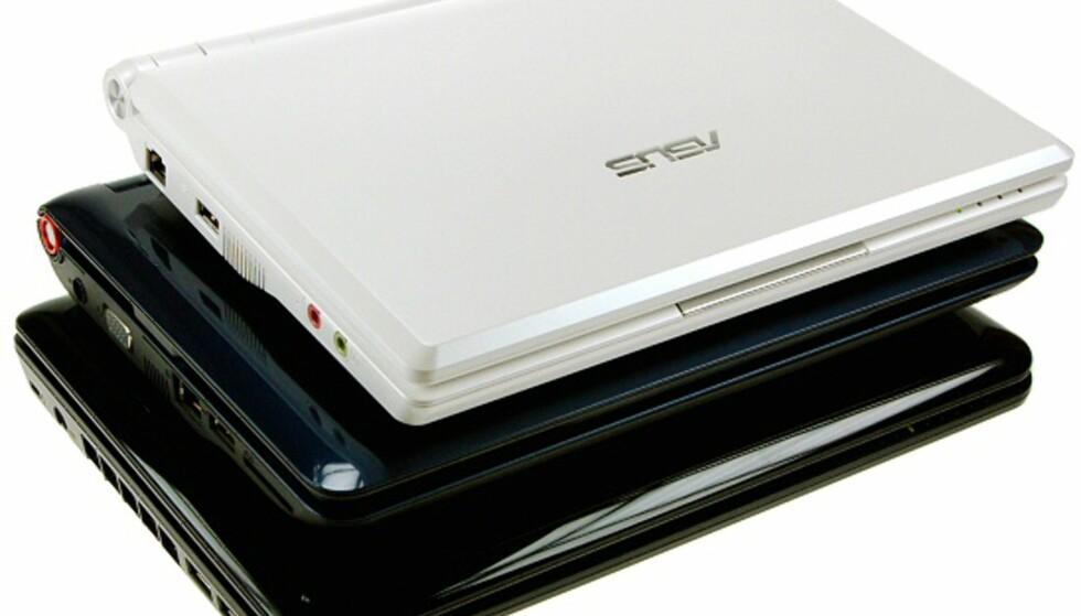 Fra toppen: Eee PC 900, AA1 og MSI Wind.