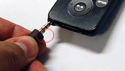 """Minijacken har en liten """"vorte"""" innerst, sannsynligvis knyttet til støydempingen. Det er imidlertid nok til at ørepluggene ikke kan brukes med andre spillere."""