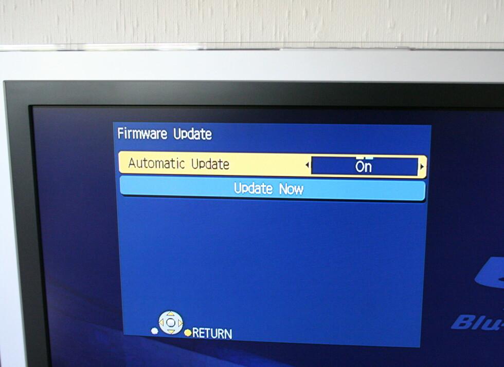 Har du en BD50 bør denne stå på, da er du alltid sikret siste software.
