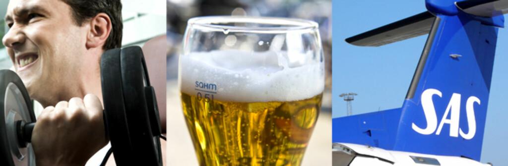 <b>Trening, øl og flybilletter:</b> Er du student, trenger du ikke alltid betale full pris! Foto: Colourbox