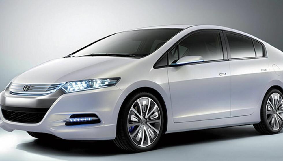 Store bilder av Hondas hybridbil