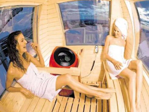 Sauna i skiheisen. Påkledning valgfritt ... Foto: Sport Resort Ylläs