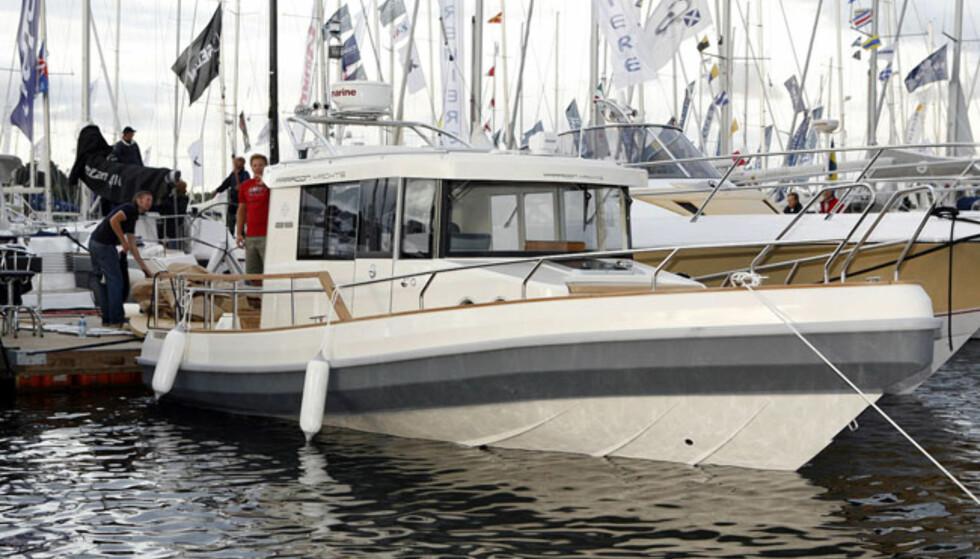 Paragon 25 er en ny båt som ligner på Targa. Kul helårsbåt. Foto: Per Ervland