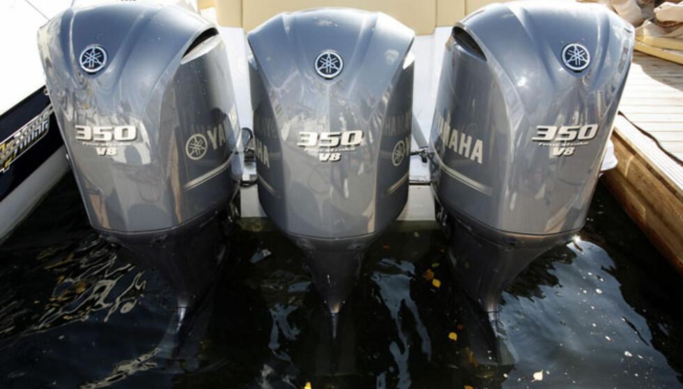 Sessa 36 Key Largo er fortsatt en av svært få båter som tåler Yamaha V8 med 350 hestekrefter. Foto: Per Ervland
