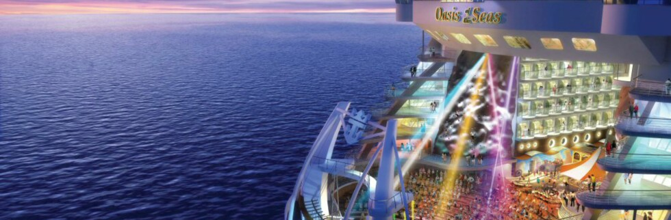 Oasis of the Seas får plass til 5.400 passasjerer. Foto: RCCL