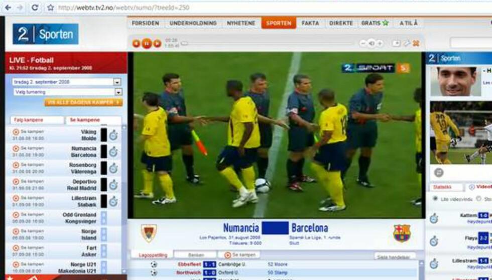 TV2 sin webtv-løsning fungerte udmerket uten noen form for konfigurasjon eller plugin. Det er jo slik det bør være, synes du ikke?