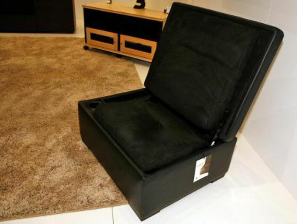 Og vips - en god stol i oppslått stilling Foto: Per Ervland