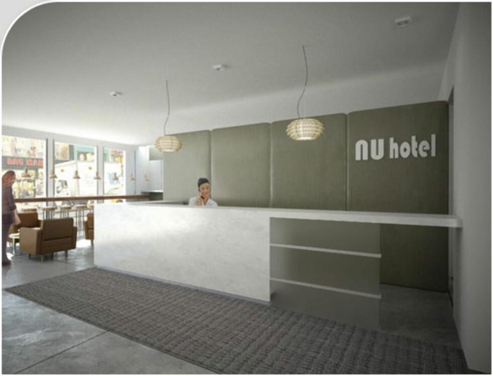 Resepsjonsområdet. Foto: Ny Hotel