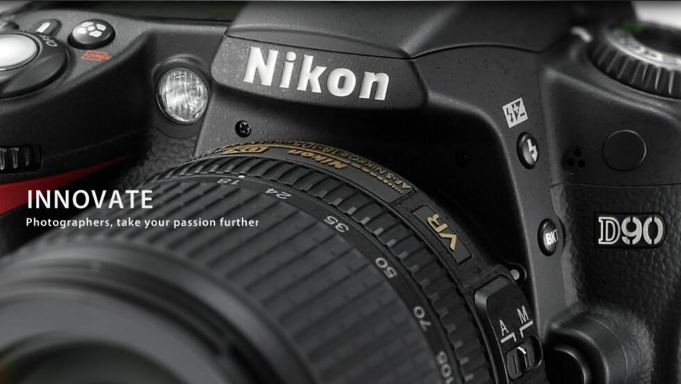 Som det første speilreflekskameraet i verden, kan D90 filme med HD-oppløsning.