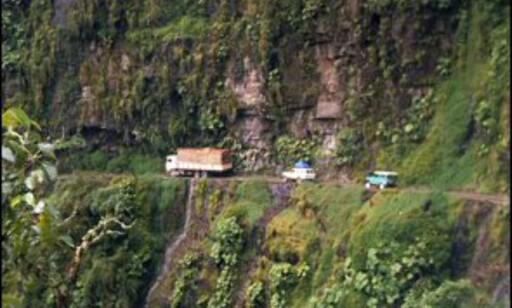 Yungusveien (eller Yungasveien) i Bolivia er ikke for pyser. Foto: Wikipedia