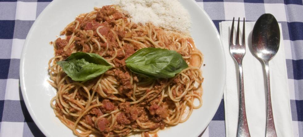 En restemiddag med spaghetti bolognese kan være sunnere enn du aner. Illustrasjonsbilde: Colourbox Foto: Colourbox