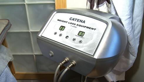 Apparatet som styrer den infrarøde varmebehandlingen. Foto: Per Ervland