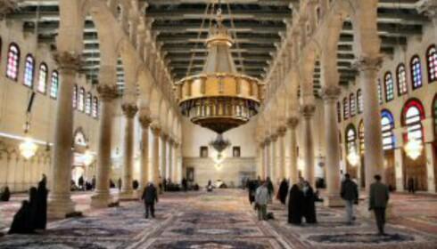 I Damaskus ligger Ummayed-moskeen, som regnes som en av verdens vakreste. Foto: Zeledi
