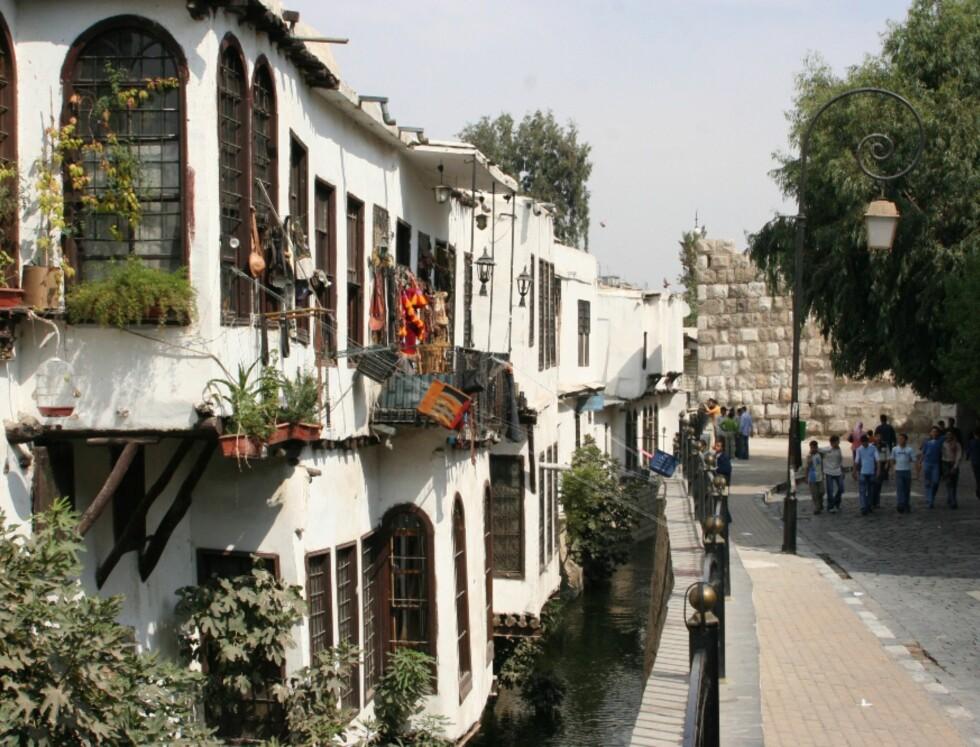 Sjarmerende tradisjonelle syriske hus i Damaskus' gamle del. Foto: Bengt Sigvardsson