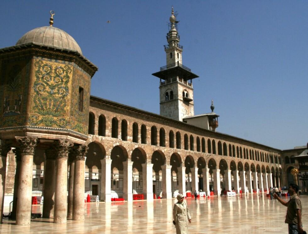 Ummayad-moskeen er Damaskus' viktigste og vakreste, og et naturlig turistmål. Foto: Bengt Sigvardsson