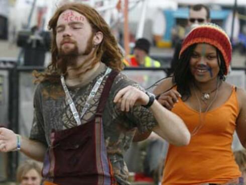 Fans på musikkfestivalen Oxegen. Foto: Oxegen