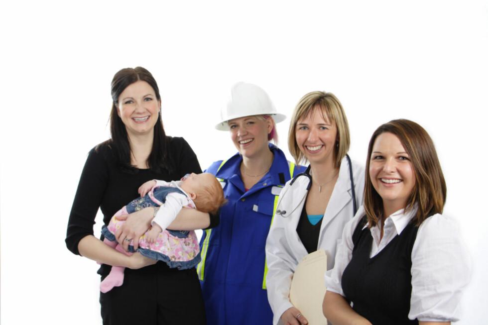 Kvinner jobber mindre etter de får barn. Illustrasjonsfoto: iStockphoto.com
