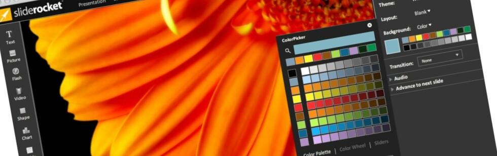 SlideRocket er et lovende, nettbasert alternativ til Powerpoint. Foto: sliderocket.com