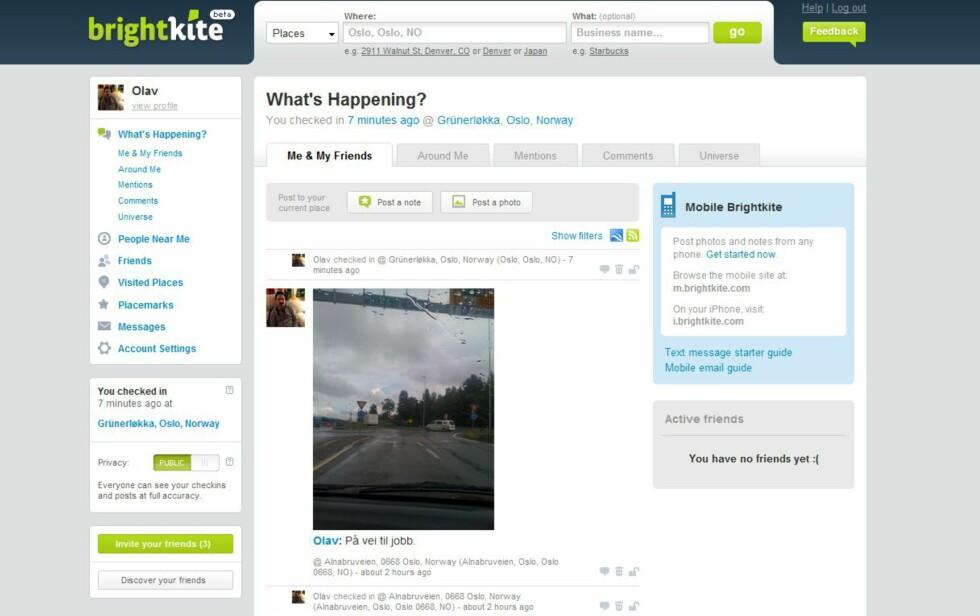 <strong>Hva skjer rundt meg nå? Foto:</strong> Ill: BrightKite.com