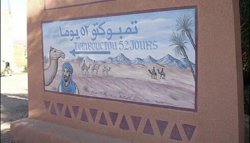 Det tar altså 53 dager å komme seg fra Zagora til Timbuktu på kameler. Foto: Caustic Armadillo