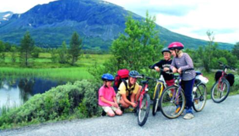 En aktiv familietur i naturskjønne omgivelser og frisk luft er godt for både kropp og sjel. Foto: Hemsedal Turistkontor